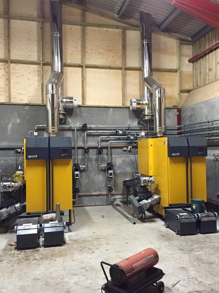 New ETA wood chip boiler installation for local biomass company