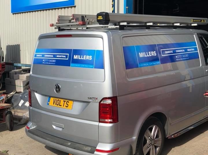 Millers Electrical Contractors Work Van