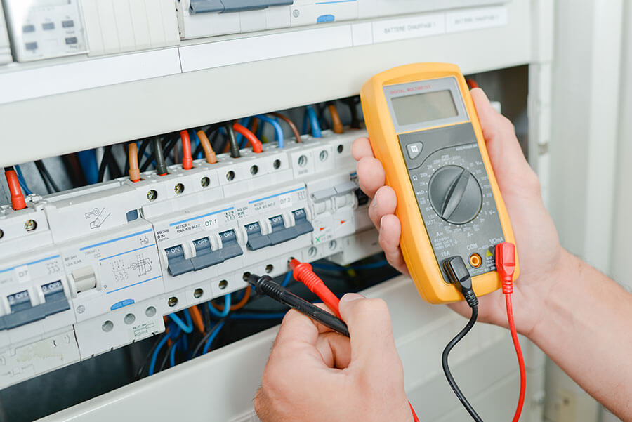 electrical inspection being carried out on switches